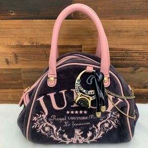 Juicy Couture Navy Velour Purse